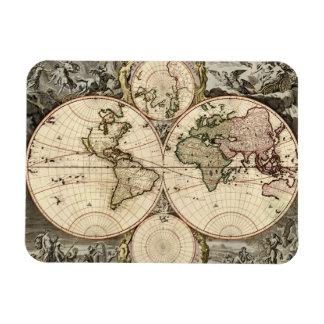 Antique World Map by Nicolao Visscher, circa 1690 Rectangular Photo Magnet