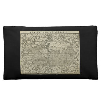 Antique World Map by Sebastian Münster circa 1560 Cosmetic Bag