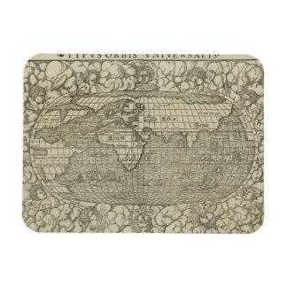 Antique World Map by Sebastian Münster circa 1560 Rectangular Photo Magnet