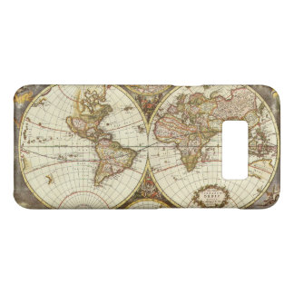 Antique World Map, c. 1680. By Frederick de Wit Case-Mate Samsung Galaxy S8 Case