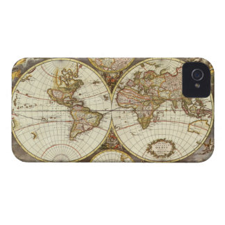 Antique World Map, c. 1680. By Frederick de Wit iPhone 4 Cover