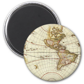 Antique World Map, c. 1680. By Frederick de Wit Refrigerator Magnets