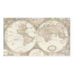 Antique World Map, c. 1680. By Frederick de Wit Pack Of Standard Business Cards