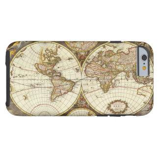 Antique World Map, c. 1680. By Frederick de Wit Tough iPhone 6 Case