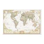 Antique World map canvas wrap print Canvas Print
