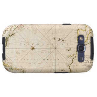 Antique world map galaxy SIII cases