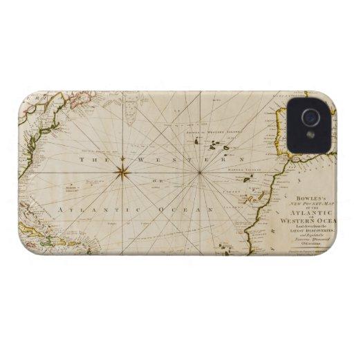 Antique world map iPhone 4 Case-Mate case