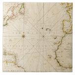 Antique world map ceramic tiles