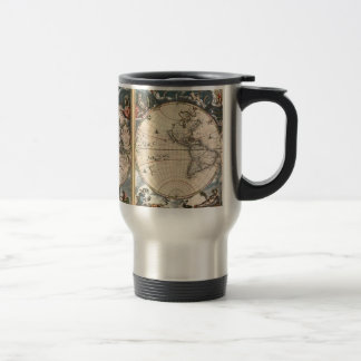 ANTIQUE WORLD MAP Collection Stainless Steel Travel Mug