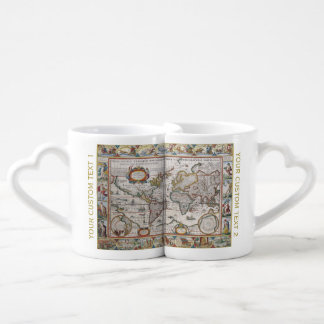 Antique World Map couple's mugs