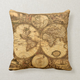 Antique World Map Cushion