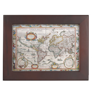 Antique World Map custom keepsake box