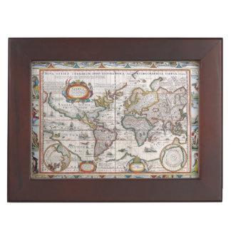 Antique World Map custom keepsake box