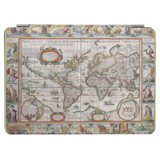 Antique World Map custom monogram covers iPad Air Cover