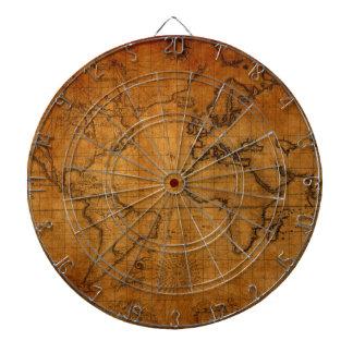 Antique World Map Dartboard
