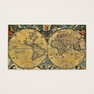 Antique World Map Distressed #2