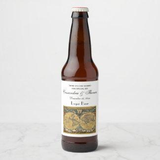 Antique World Map DIY BG Beer Labels