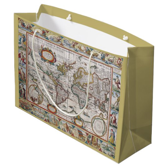 Antique World Map gift bag