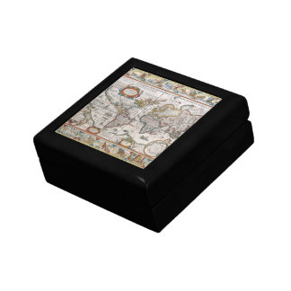 Antique World Map gift / jewelry box