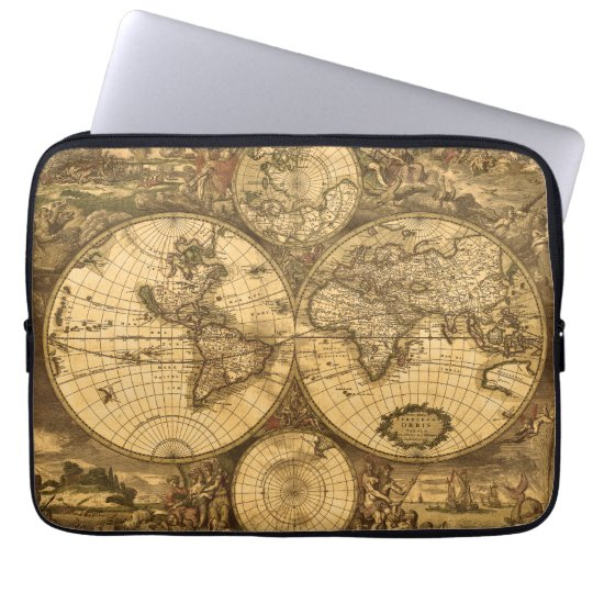 Antique World Map Laptop Sleeve