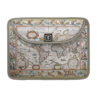 Antique World Map MacBook sleeves