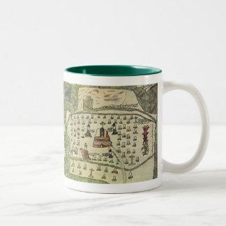 Antique World Map; Montezuma Aztec Empire, 1577 Coffee Mugs