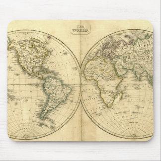 Antique world map mouse mat