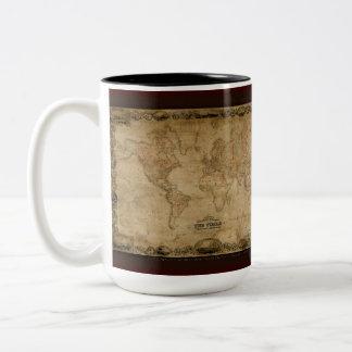 Antique World Map Mug Series