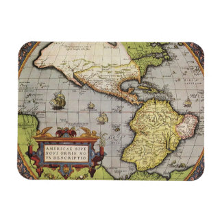 Antique World Map of the Americas, 1570 Flexible Magnet