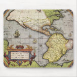 Antique World Map of the Americas, 1570 Mouse Mat