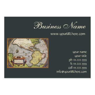 Antique World Map of the Americas, 1570 Pack Of Chubby Business Cards