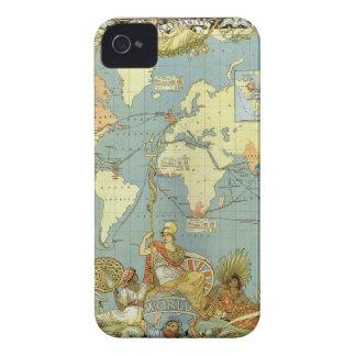 Antique World Map of the British Empire, 1886 iPhone 4 Case-Mate Case