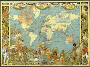 Antique map of the world jigsaw puzzles zazzle antique world map of the british empire 1886 jigsaw puzzle gumiabroncs Choice Image
