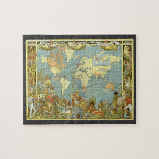 Antique world map jigsaw puzzles zazzle antique world map of the british empire 1886 jigsaw puzzle gumiabroncs Images