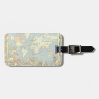 Antique World Map of the British Empire, 1886 Luggage Tag