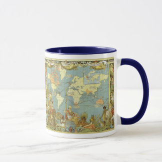 Antique World Map of the British Empire, 1886 Mug
