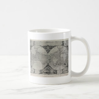 Antique World Map - Old maps of Asia Coffee Mugs