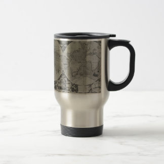Antique World Map - Old maps of Asia Stainless Steel Travel Mug