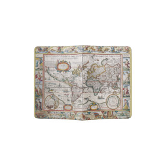 Antique World Map passport cover