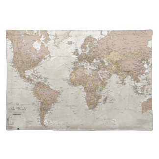 Antique World Map Placemat