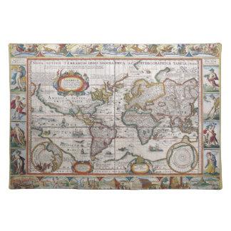 Antique World Map placemats