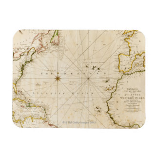 Antique world map magnets