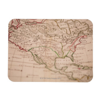 Antique World Map Rectangle Magnets