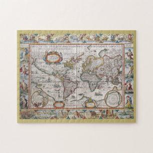 Antique World Map puzzle