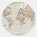 Antique World Map Round Sticker
