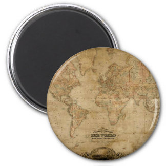 Antique World Map Series Magnet
