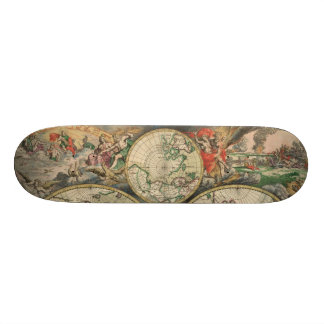 Antique World Map Skateboard
