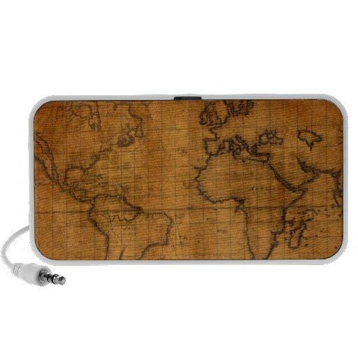 Antique World Map PC Speakers