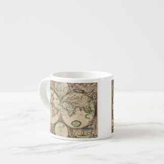 Antique World Map Espresso Mug