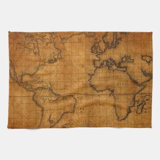 Antique World Map Towel